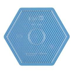 Placa / Pegboard hexagonal grande transparente para Hama midi
